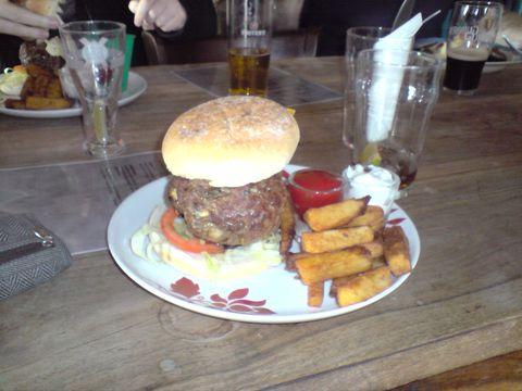 Burger At The Mash Tun
