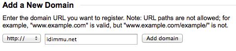Add a New Domain